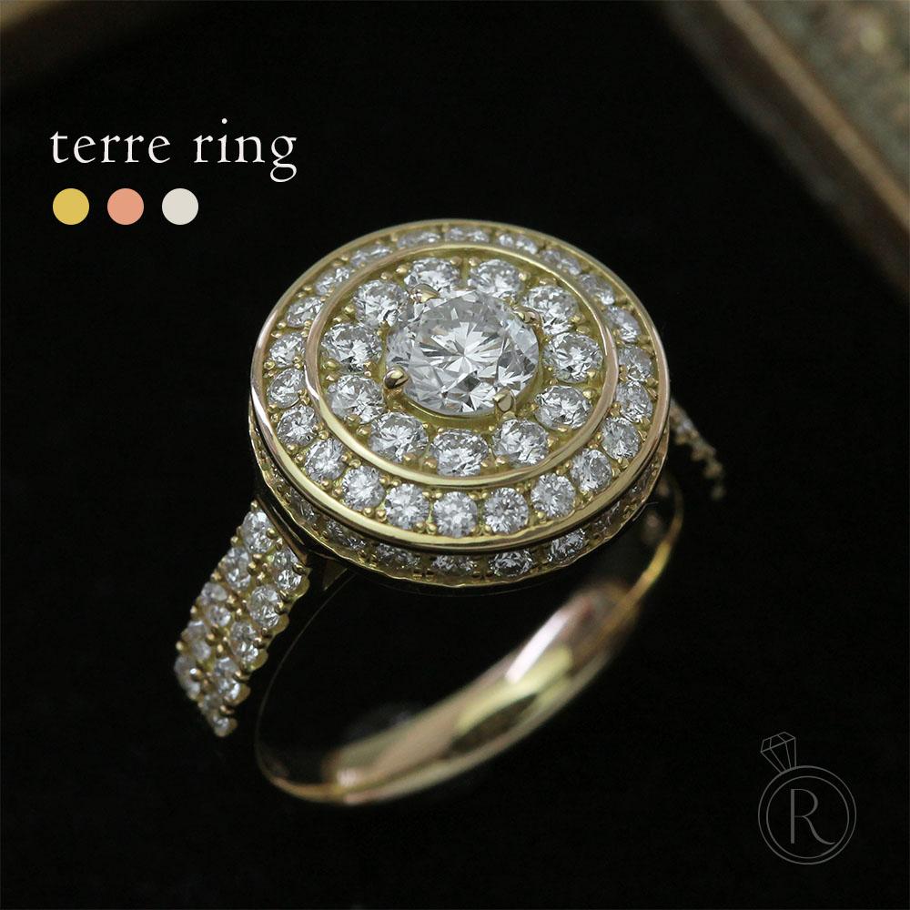 K18 テール ダイヤモンド リング 1.8ct/G/VSヴィンテージ風重みも感じる上質リング 送料無料 ダイヤ リング ダイアモンド 指輪 ring 18k 18金 ゴールド エンゲージリング 婚約 ラパポート 代引不可