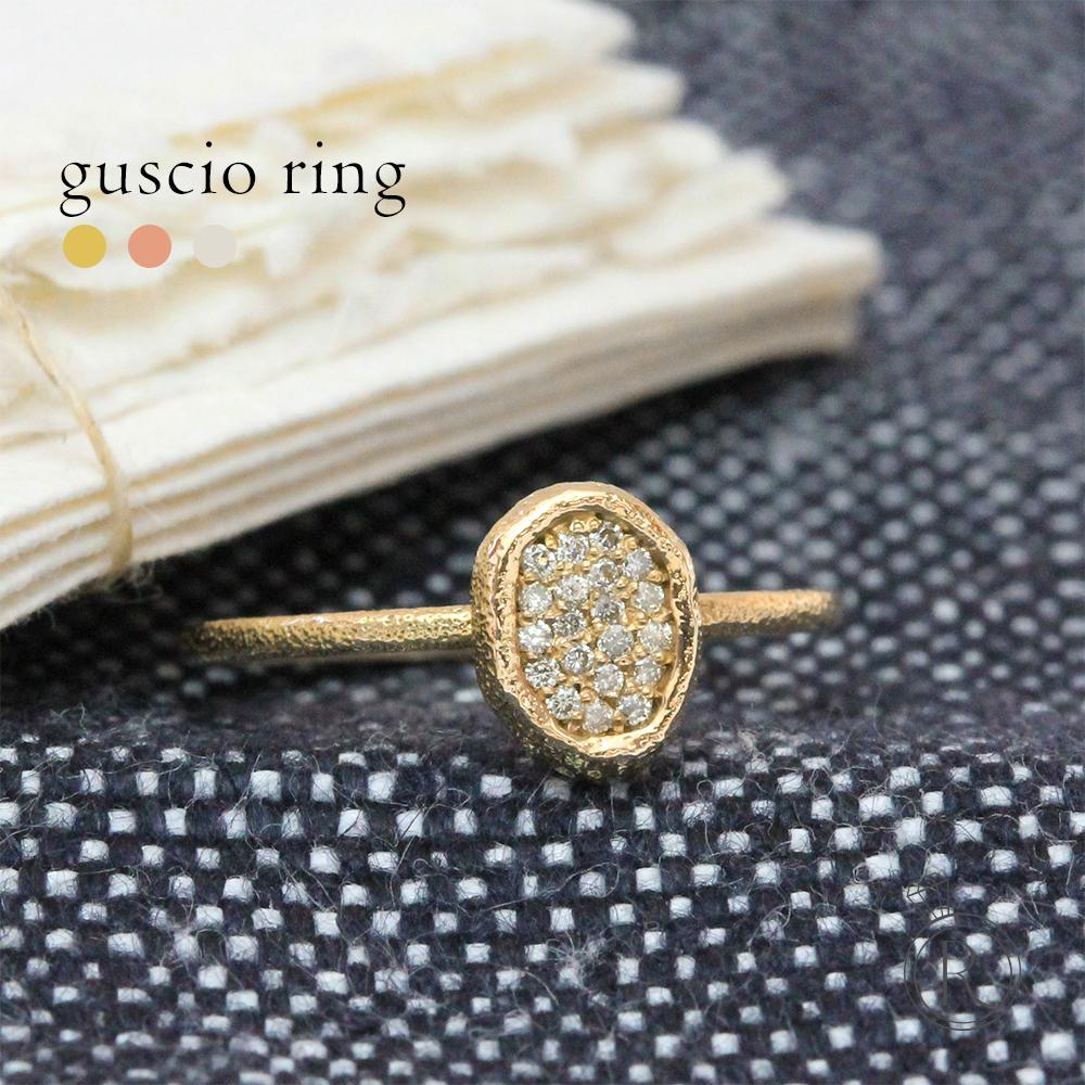 K18 グーショ ダイヤモンド リング 愛らしいかたちと共に。 送料無料 パヴェ ダイヤ リング ダイアモンド 指輪 ring 18k 18金 ゴールド ラパポート 代引不可