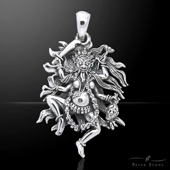 【PETER STONE】チベット密教 閻魔大王 ヤマラージャ 高品質シルバー ペンダントトップ|シルバー925【メール便対応可】