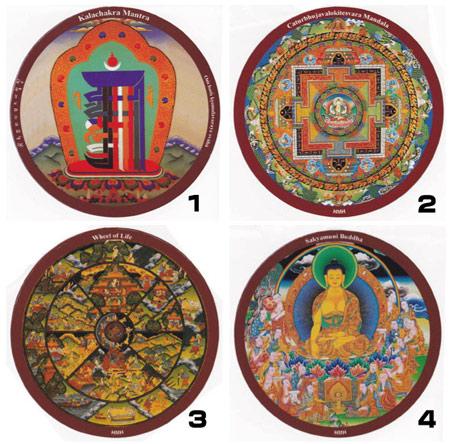 【メール便可♪】【チベット密教の世界観を表したカラフルなステッカーです】 チベット密教ステッカー 曼荼羅 マントラ【メール便対応可】