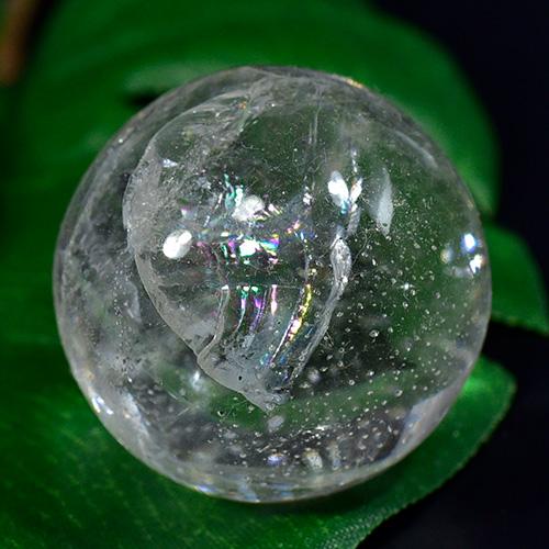 【一点物 カービング 彫刻】ガネッシュヒマール産 ヒマラヤ水晶 彫刻 カービング ボール(玉) 虹あり(レインボーあり) 42g¬【送料無料 ボール(玉)】, そふまるShop:1e35d65e --- officewill.xsrv.jp
