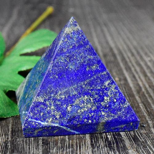 【一点物】天然ラピスラズリ ピラミッド|アフガニスタン産|瑠璃石|重さ:154g【送料無料】