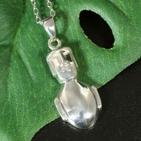 复活节的纯银吊坠岛石像 | 南 | 智利 | 拉帕努伊人 | 银 925 | 配件