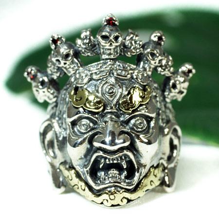 【orientalvibrations】チベット密教 閻魔大王 ヤマラージャ スターリングシルバー リング(指輪)|Yama|オリエンタルバイブレーション【送料無料】