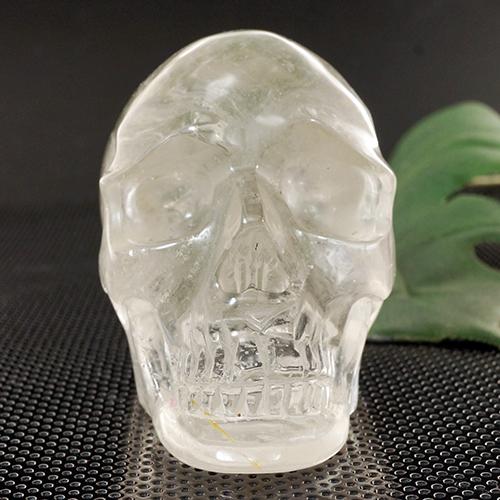 【一点物】天然水晶 クリスタルスカル(骸骨)カービング(彫刻) 316g|ヒューマンスカル|人間ガイコツマヤ|アステカ|彫刻【送料無料】