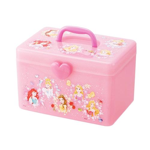 Disneyプリンセスから持ち手収納ボックスが登場 Disney プリンセス 持ち手 収納 ボックス 仕切りトレー アクセサリー 入れ 誕生日プレゼント キャラクター 子供 学校 グッズ ディズニー かたずけ ラプンツェル おかたずけ BOX おもちゃ 送料無料 おもちゃ箱 ベル アリエル 収納ボックス