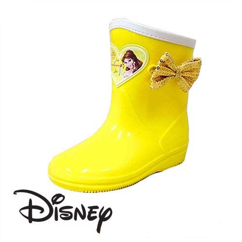 ポイントのリボンとイエローカラーがとても可愛い 国産品 Disney リボン付 ベル キッズ レインブーツ 7327 美女と野獣 プリンセス 幼稚園 小学生 女の子 子ども 子供 雨具 プリンセスグッズ キャラクター 靴 セール 特集 イエロー シューズ ディズニー キッズシューズ レイン 長靴 女児 こども 子供靴