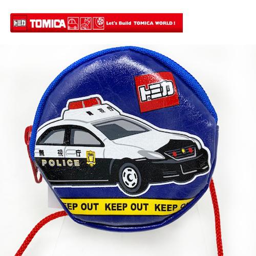 70%OFFアウトレット メール便対応 トミカのラウンドポーチ TOMICA トミカ ラウンド ネックポーチ パトカー KTM-1000 日本製 サイフ 子ども グッズ 財布 乗り物 車 コインパスケース 用 コイン 緊急車輌 さいふ 首掛け 卸直営 小銭入れ 丸型 のりもの ネック