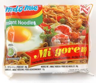 甘辛スパイシーシンガポール焼きそば。ケチャップマニス(インドネシアの甘い調理用ソース)付き! インドミー インスタント麺ミーゴレン 80g