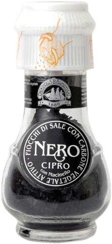 炭入のお塩です カリカリひいて いつでも挽きたて ピラミッド型の海塩結晶 フリットに ピラミッドソルト ネロ 限定特価 ドロゲリア サーレ 炭塩 海塩 サーレネロ 50g ミル付 セール特別価格