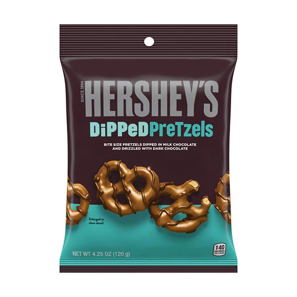 ◇限定Special Price ざくざくプレッツェルにチョコと塩粒がカリっと あまじょっぱさがたまりません ハーシー ディップドプレッツェル 120g 上質 ハーシーズ ミルクチョコ