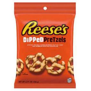 レビューを書けば送料当店負担 ピーナッツバター入りチョコレートがけプレッツェルl あまじょっぱさがたまりません ハーシー 定価の67%OFF ディップドプレッツェル ハーシーズ 120g リーセス