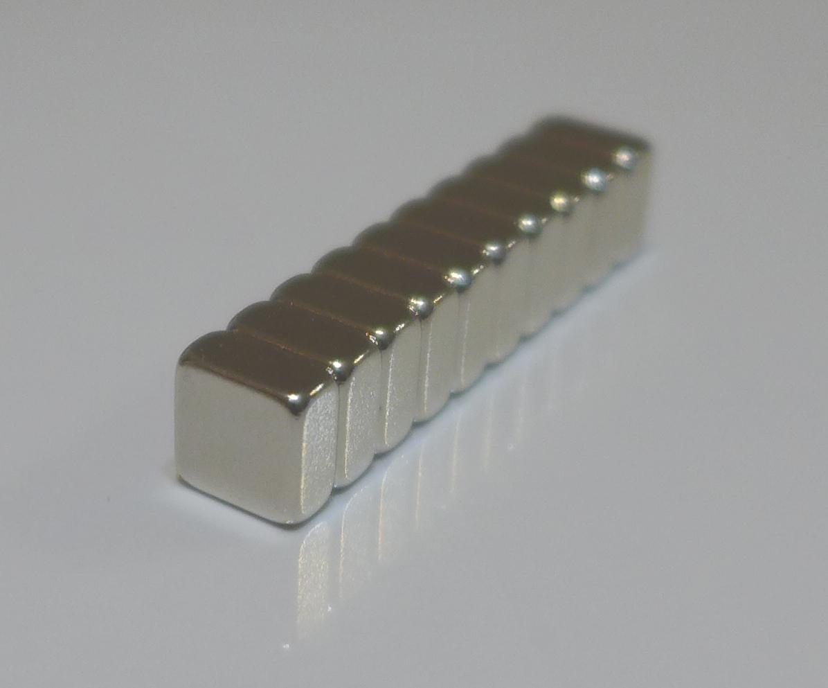 ネオジム磁石 角型 25mm×25mm×5mm(N35) 10個ネオジウム 超強力 マグネット 強力磁石 永久磁石 いろいろ使えますリール改造・燃費アップ・フィギア・プラモデル・日曜大工・工作・DIY・紙留め・実験