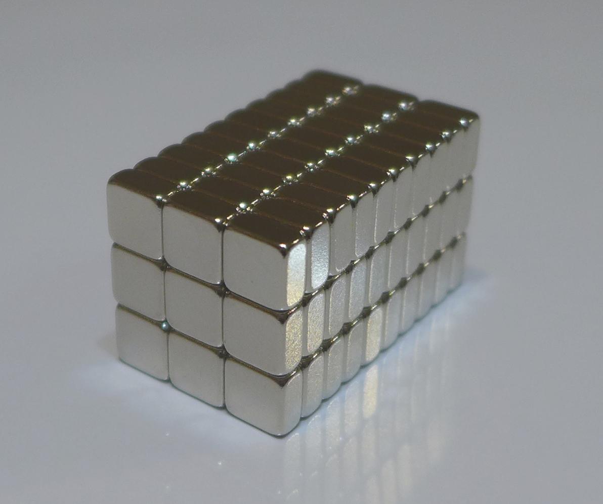 ネオジム磁石 角型 10mm×10mm×10mm(N35) 90個ネオジウム 超強力 マグネット 強力磁石 永久磁石 いろいろ使えますリール改造・燃費アップ・フィギア・プラモデル・日曜大工・工作・DIY・紙留め・実験