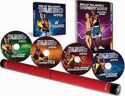 【中古】ビリー・ブランクス TAE BO AMPED (DVD4枚セット) 英語版 「ビリーズブートキャンプ」ビリー隊長の最新ワークアウト!タエボー