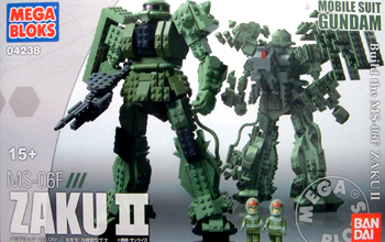 【新品】 メガブロック 機動戦士ガンダム ザク2 MS-06F (ZAKU II) ※新品の商品ですが、箱に多少ダメージございます。