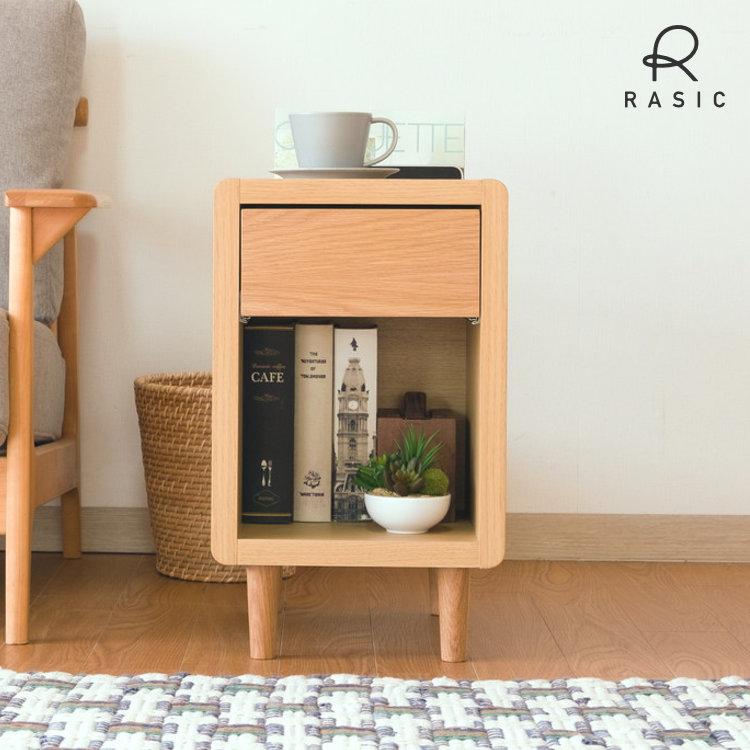 収納と機能満載 場所を選ばないスタイリッシュなサイドテーブルです ミニテーブル付き収納 オーク材 木製 メーカー在庫限り品 北欧 サイドテーブル ナイトテーブル 引き出し ソファーテーブル 幅30 TABLE SIDE 税込 CURIP-3 インテリア isseiki 家具 送料無料 おしゃれ WO-NA 30