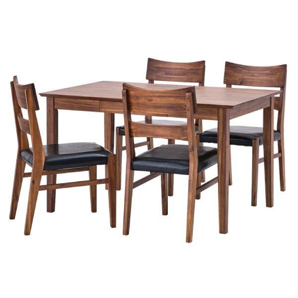 ダイニングセット 【SET】LITHIO DINING 5SET(TABLE120+CHAIRx4) インテリア おしゃれ 家具 新生活 送料無料