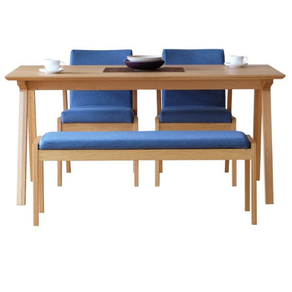 【全品ポイント10倍】ダイニングセット 【SET】SECCO DINING 4SET(TABLE150+BENCH+CHAIRx2) (OAK/NBL21) インテリア おしゃれ 家具 新生活 3980 送料無料 ぉwyあ