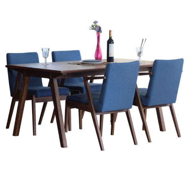 【全品ポイント10倍】ダイニングセット 【SET】SECCO DINING 5SET(TABLE+CHAIRx4) (WALNUT/NBL21) インテリア おしゃれ 家具 新生活 3980 送料無料 ぉwyあ