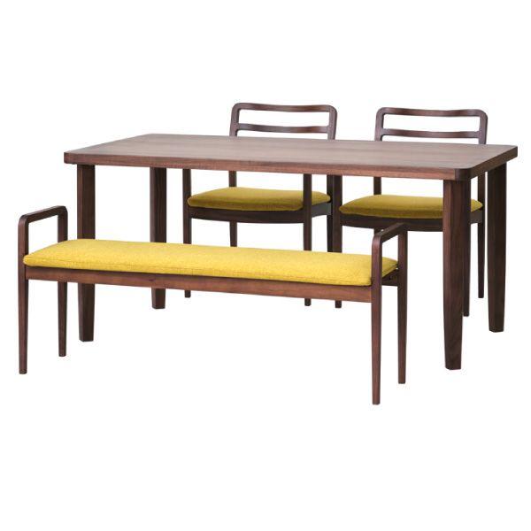 【全品ポイント10倍】チェア・椅子 ダイニングセット 【SET】LINEA DINING 4SET (WN-MBR-LBR) (51TU) インテリア おしゃれ 家具 新生活 3980 送料無料 ぉwyあ