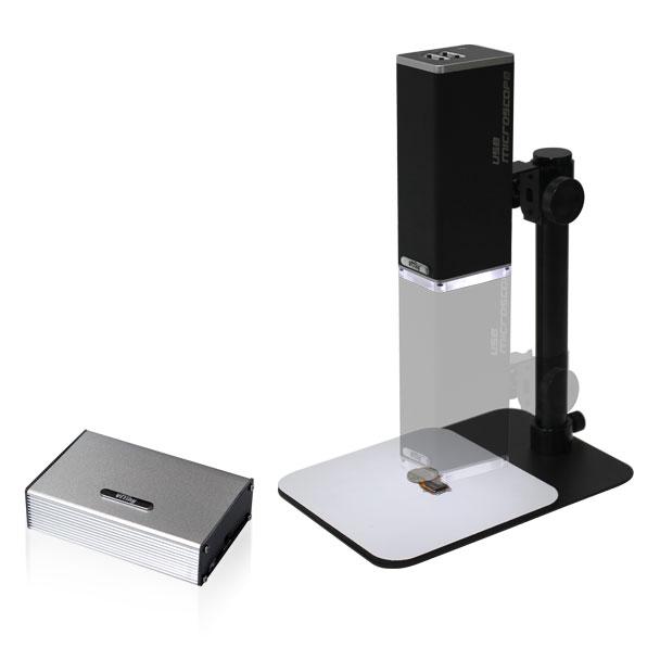 MicroLinks製 HDMIモニタ接続専用スタンド付デジタル実体顕微鏡+PC接続ユニットセット UM08-IMB4