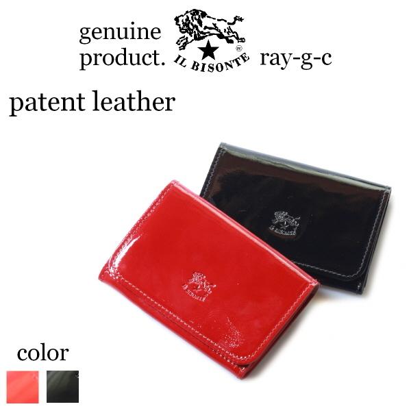 ( イルビゾンテ IL BISONTE ) ( 名刺入れ レザーカードケース 本革 エナメル )イル ビゾンテ カードケース 3Pocket( Enamel Leather )( メンズ レディース 54_1_ 54172304493 )( 商品番号 IB-18-04493 )