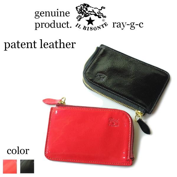 ( イルビゾンテ ラウンドファスナー ) IL BISONTE イル ビゾンテ マルチ ジッパーコインケース( Enamel Leather )( L字コインケース 54_1_ 54182307540 小銭入れ コインケース )( 商品番号 IB-18-07540 )