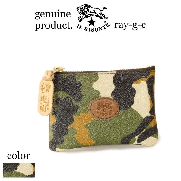 イルビゾンテ IL BISONTE ( 財布 小銭入れ コインケース )イル ビゾンテ スクエアジップコインケース( camouflage )( 54_1_ 5442404841 メンズ レディース カモフラ )( 商品番号 IB-44-04841 )
