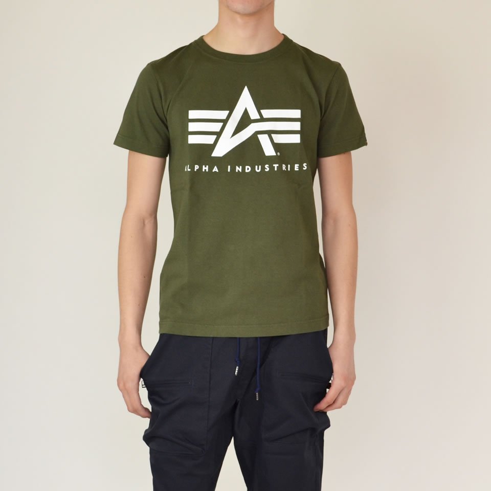 differently ad86f 9022d ALPHA INDUSTRIES PRINT T-SHIRTS A-MARK alpha industry alpha logo mark print  TC1126 military American casual