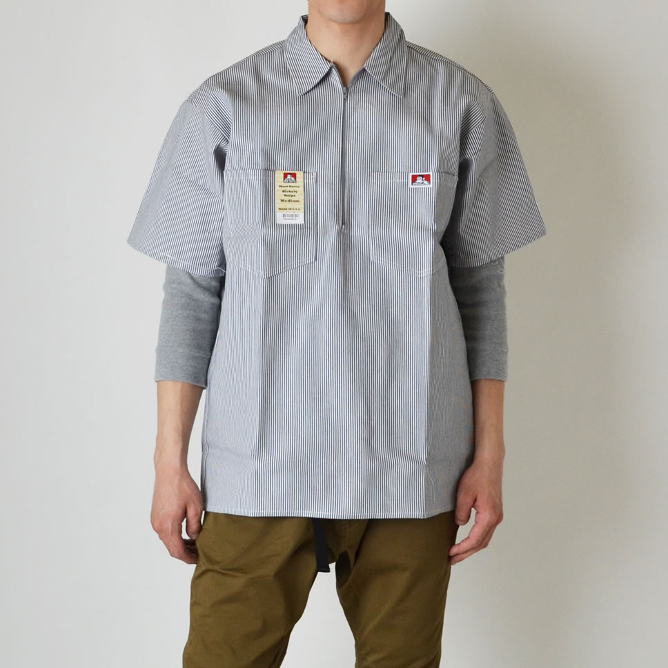 Ray Online Store Ben Davis Usa Bdus 7100 Made In The Tendencies Tshirt Washed Pocket Nv Navy S Half Zip Shirts Short Sleeves Shirt United States