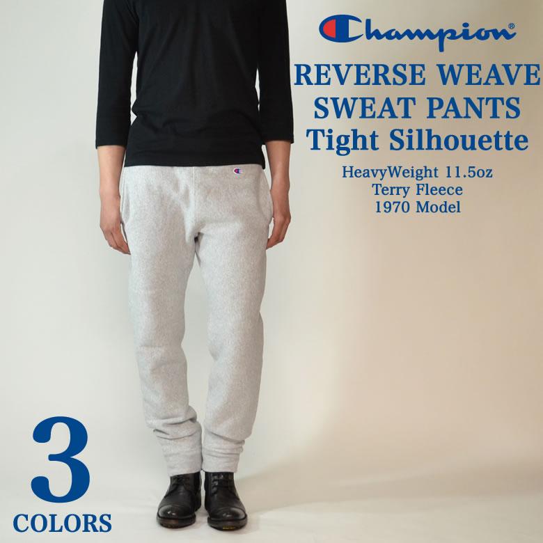 Champion champion Reverse Weave weave sweat pants sweatpants tight silhouette JAPAN model men's casual street NEW model C3-E205