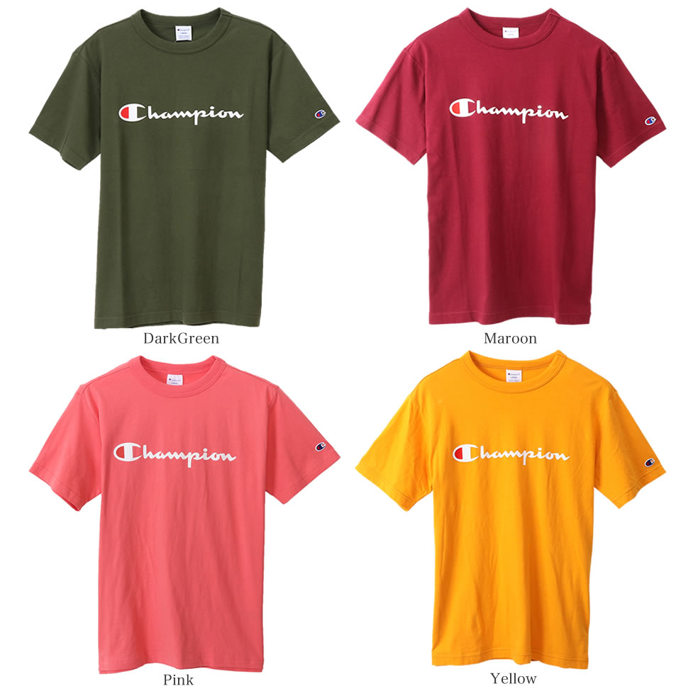 aac99028 It is the introduction of the champion logo print men short sleeves T-shirt  than Champion champion BASIC basic line. This T-shirt becoming the entry  model ...