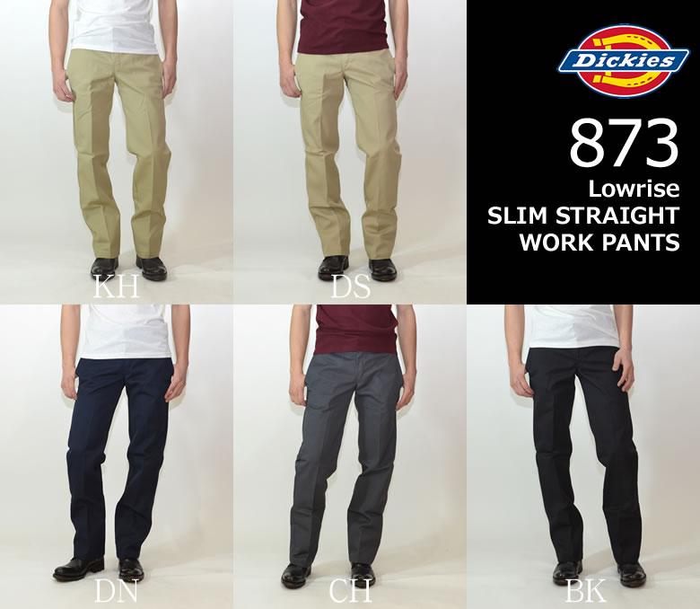 Dickies 873 Original Lowrise slim workpants chinos (WP873) home country USA line