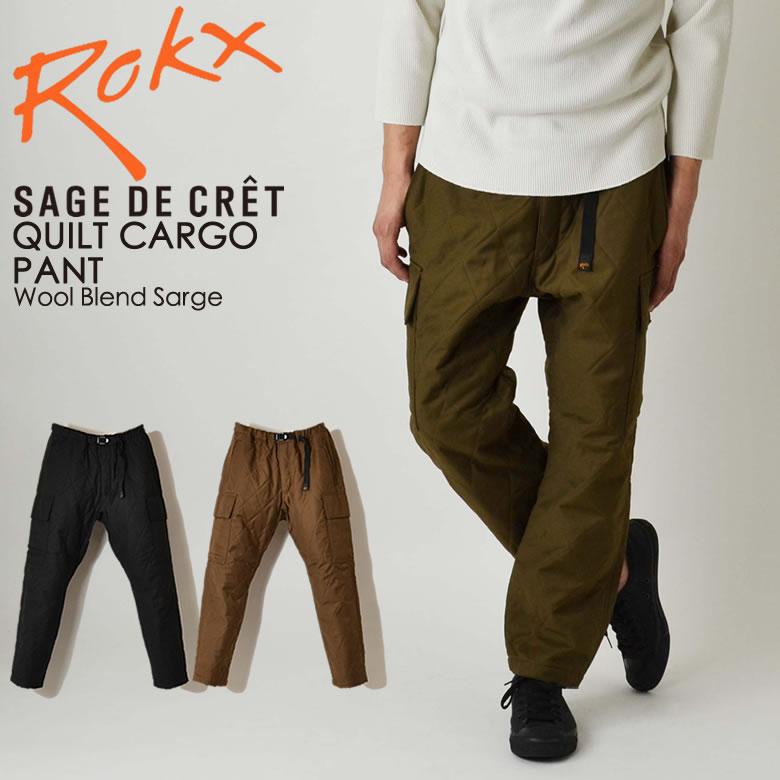 ROKX ロックス サージュデクレ QUILT CARGO PANT キルティング カーゴパンツ RXMF8602