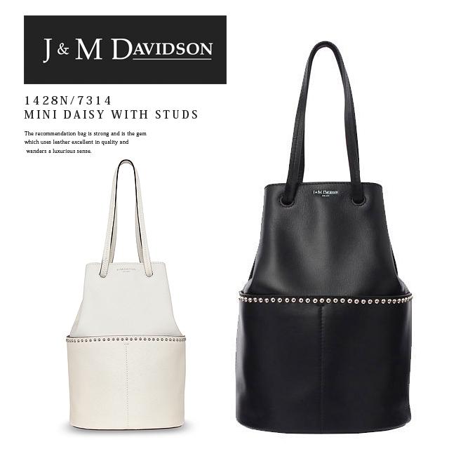 【J&M DAVIDSON】ジェイアンドエムデヴィッドソン#1428N/7314 MINI DAISY WITH STUDSレディース/バッグ/ハンドバッグ/ショルダーバッグ/ミニデイジー/ブラック/(9990)/ホワイト/(0150)