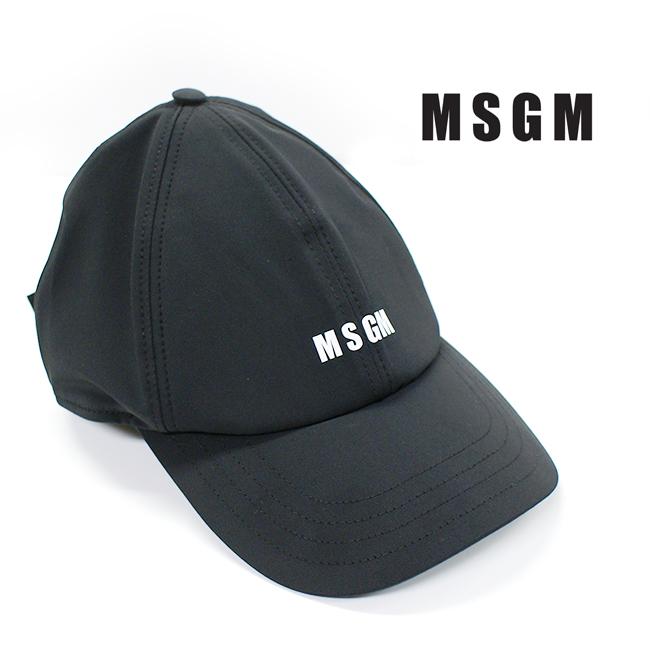 MSGM【エムエスジーエム】 レディース メンズ ユニセックス キャップ ロゴキャップ #2640ML05 99 BLACK 黒 カジュアル 帽子 ギフト プレゼント