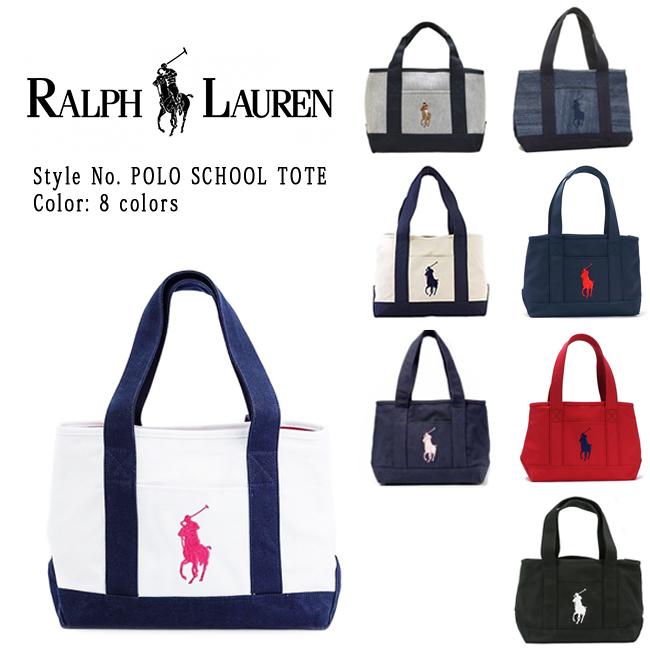 715f2399bb バッグ セール SCHOOL TOTE MD ラルフローレン トートバッグ ポロ ビッグポニー Polo Ralph Lauren キャンバス 9501
