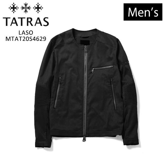 【TATRAS】タトラス LTAT20S4629 LASO メンズ テクニカルスウェード ノーカラー ストレッチ アウター ブルゾン ブラック 黒