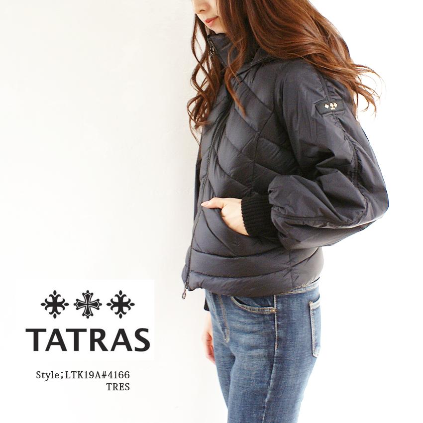 TATRAS タトラス ダウン レディース TRES #LTK19A4166 ダウンジャケット レディース アウター GREY(15) BLACK(19) ショート丈 ショートダウン マウンパ マウントパーカー 大きいサイズ 小さいサイズ, 御所市 4386cdd2