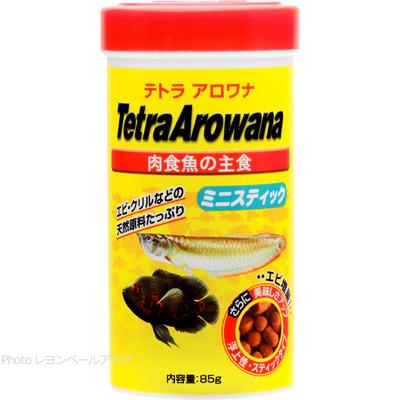 (訳あり)テトラ アロワナ ミニスティック 肉食魚の主食 85g 【在庫有り】(消費期限2019/06)