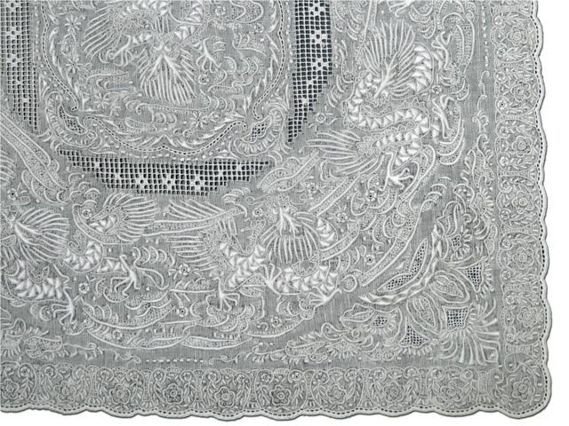【最上級クラス】~繊細を極めた見事な手刺繍~お出かけ用や飾り物、敷き物、ご贈答用に!【送料無料】人気の龍柄 スワトウ手刺繍ハンカチSuper excellent quality S911