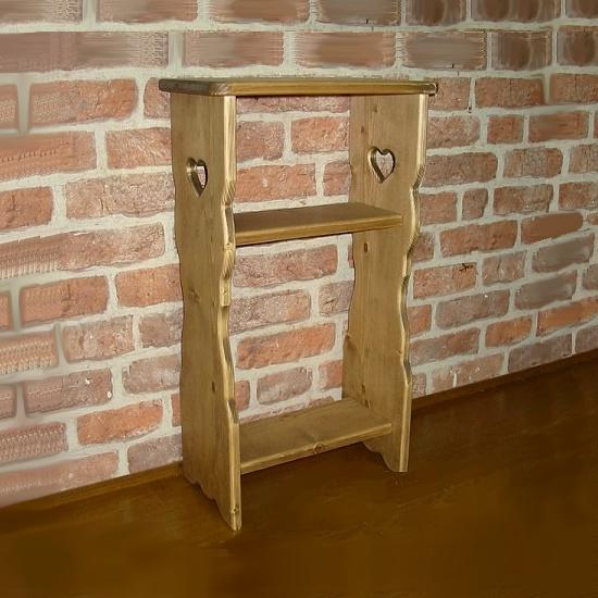 木製スタンドテーブル W40cm×H70cm [RTB-1]リビング家具 木製テーブル ハート木工品 アメリカンカントリー調 丸角 角が丸い おしゃれ 可愛い カントリー家具