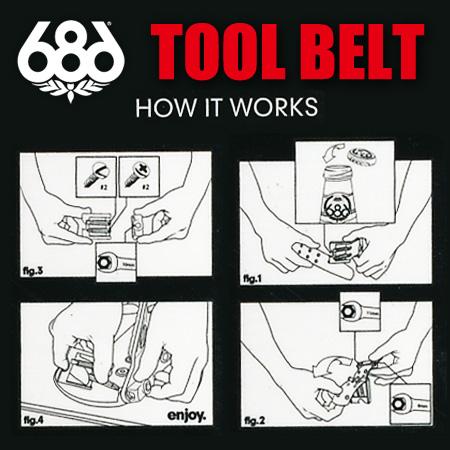 686 TOOL BELT Leather Tool Belt BLACK