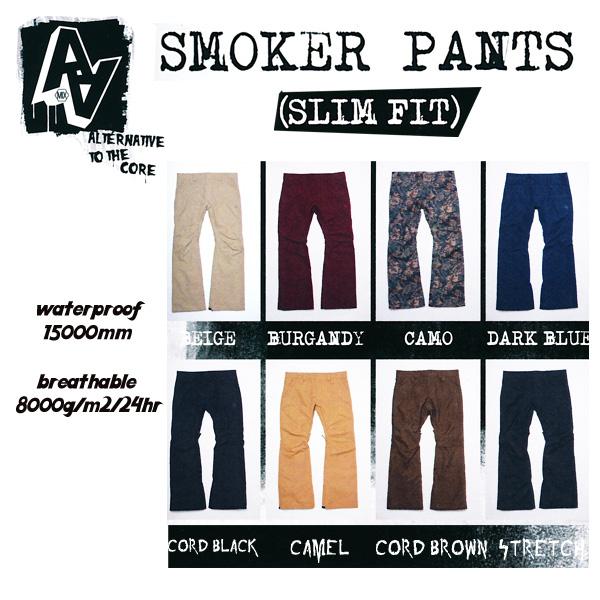 【販売開始!】残りわずか!14-15モデル!AA HARD WEAR SMOKER PANTSスモーカーパンツスリムフィット 【スノーボード ウェア 14-15 】715005