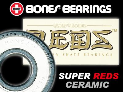 BONES ベアリング CERAMIC SUPER REDS【ボーンズ ベアリング】【スーパーレッズ セラミック】【スケートボード】【日本正規品】【メール便対応】【あす楽】【送料無料】