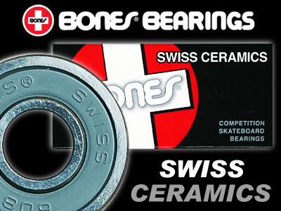 BONES ベアリング SWISS CERAMIC【ボーンズ ベアリング】【スイス セラミック】【スケートボード】【日本正規品】【メール便対応】【あす楽 送料無料】