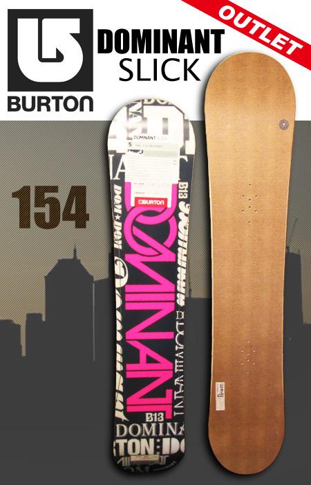 BURTON スノーボードDOMINANT SLICK 154【アウトレット スノーボード】【バートン】【日本正規品】