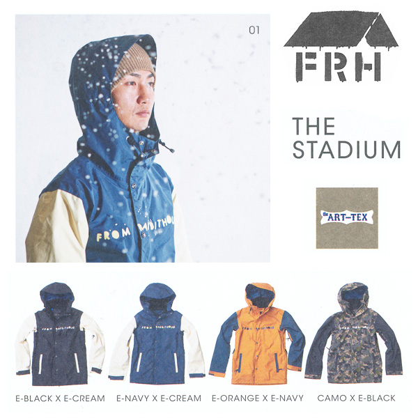 販売開始!残りわずか!14-15モデル!FRH THE STADIUM ジャケット 【スノーボード ウェア 14-15 】715005