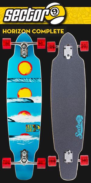 SECTOR9 ロングスケートボード HORIZON COMPLETE 39カラー BLUE【セクター9 スケートボード コンプリート】【日本正規品】715005